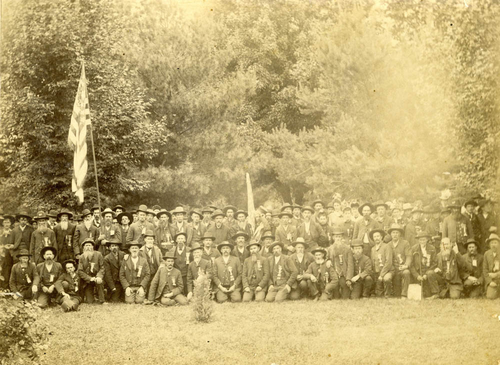 Union veterans at a Grand Army of the Republic encampment.