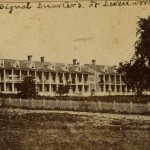 Photograph of the Single Corps. Quarters in Leavenworth, Kansas.