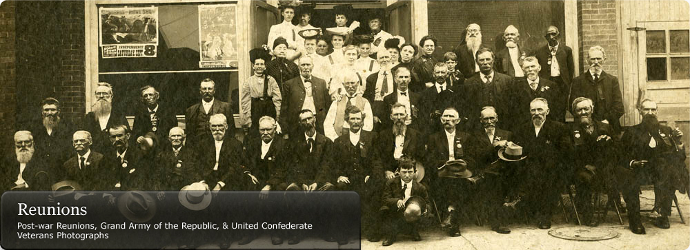 Reunions: Post-war Reunions, Grand Army of the Republic, & United Confederate Veterans Photographs